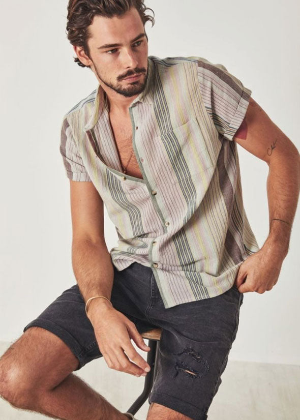 Bon Shirt Smoke Dreams Multi Stripe