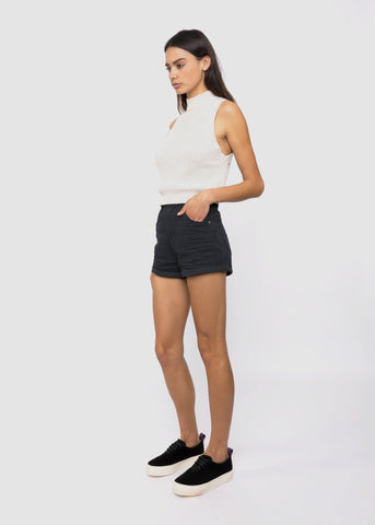 Duster Shorts Black Dust