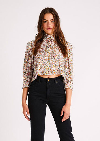 Stephanie Coast Floral Blouse White