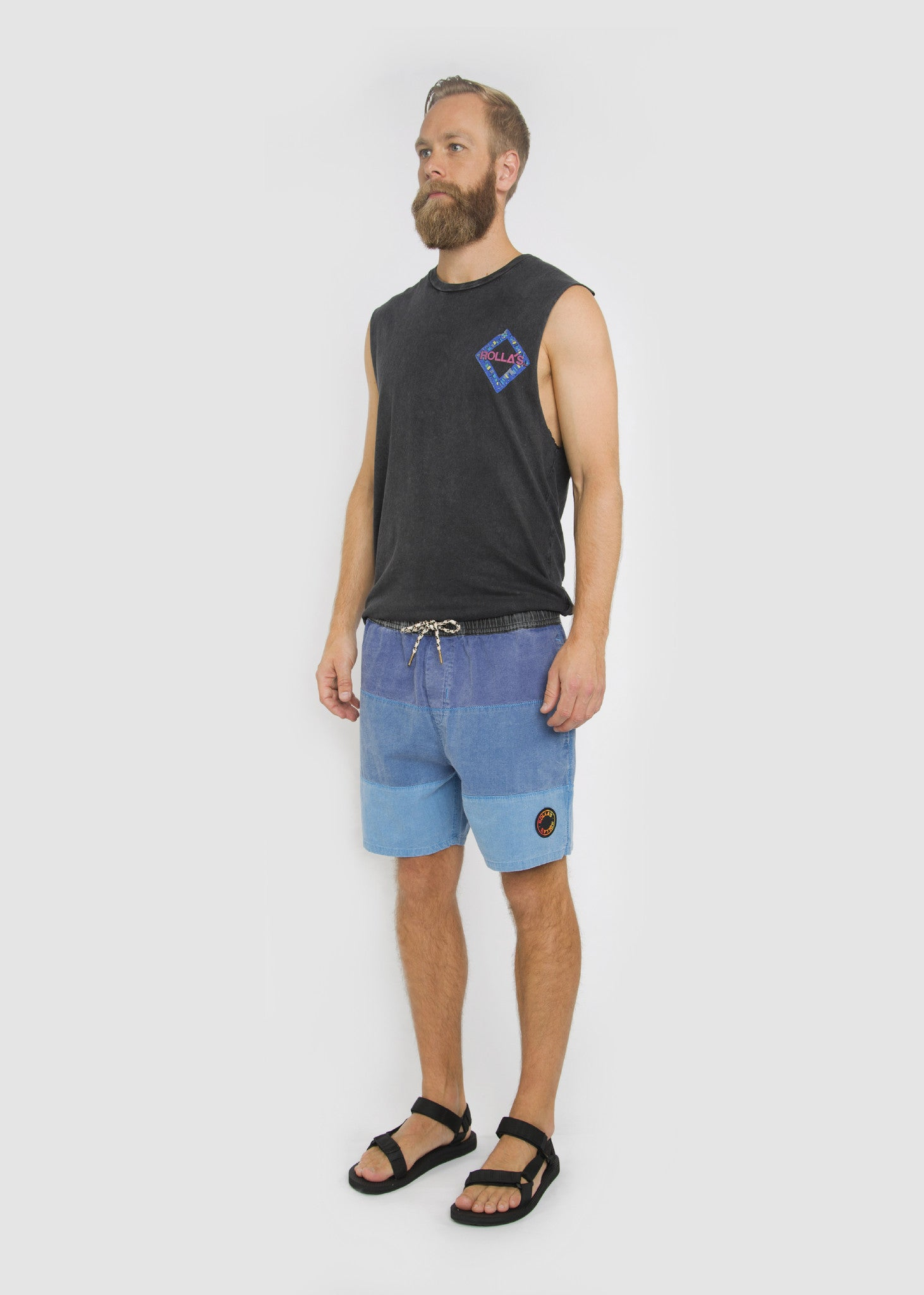 Sunset Shorts Blue Gradient