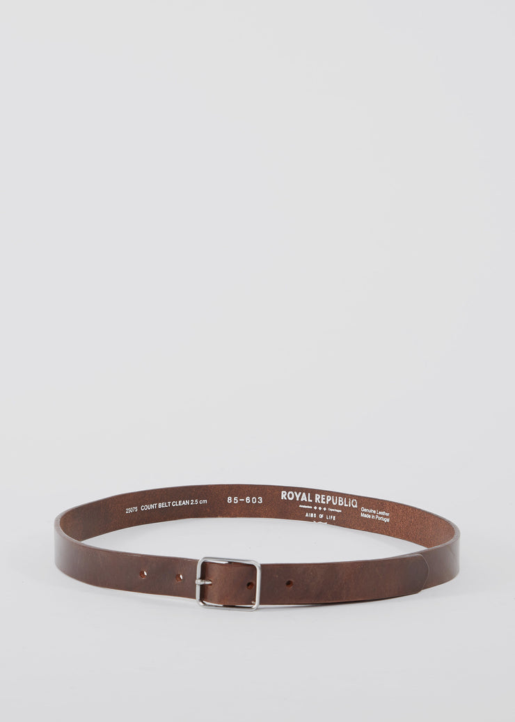 Count Belt Clean Brown