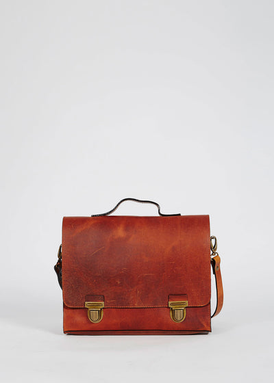 College Bag Black Vintage Cognac