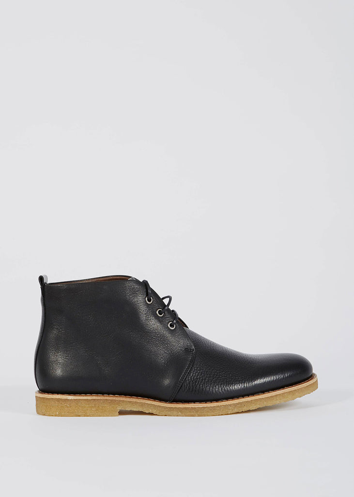 Cast Creep Midcut Leather Shoe Black