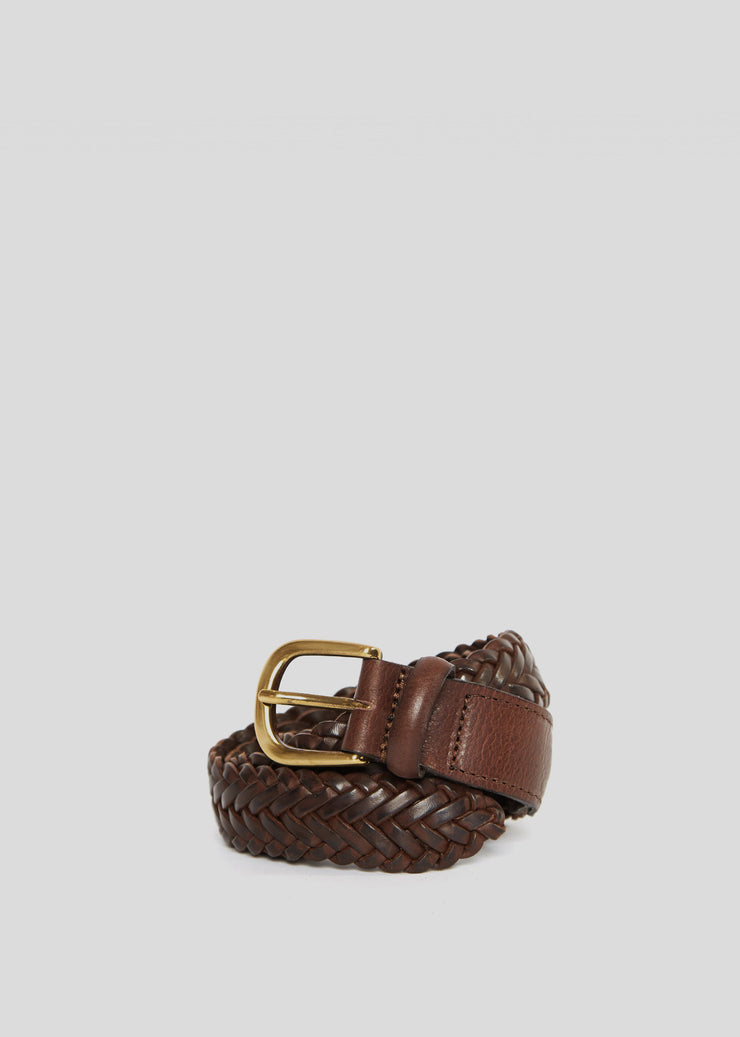Past Braided Belt Dark Brown