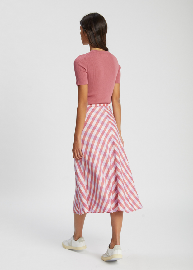 Loreta Skirt Heather Rose Check