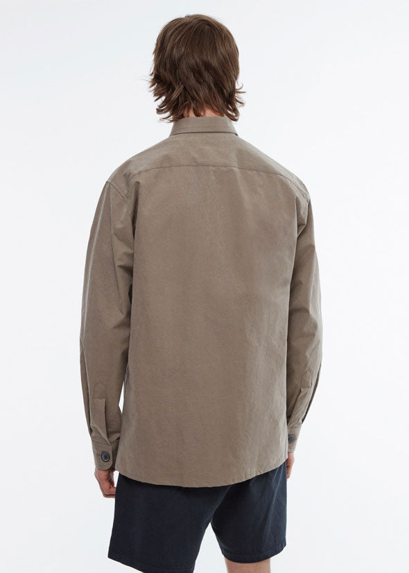 Overshirt Cotton Nylon Dark Beige