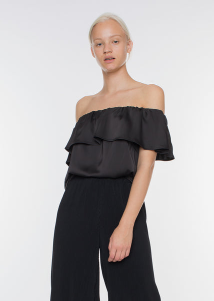 Senso Off Shoulder Top Black