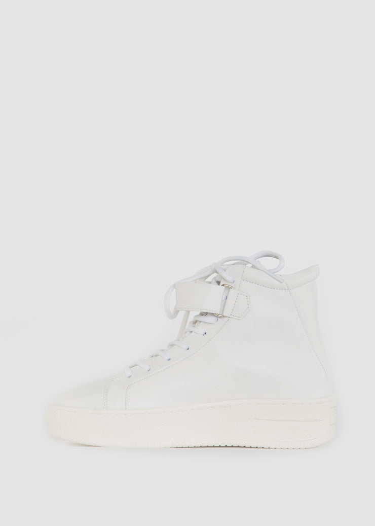 Seven20 High Cut Strap Shoes White