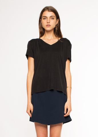 Siff V-Neck Top Black