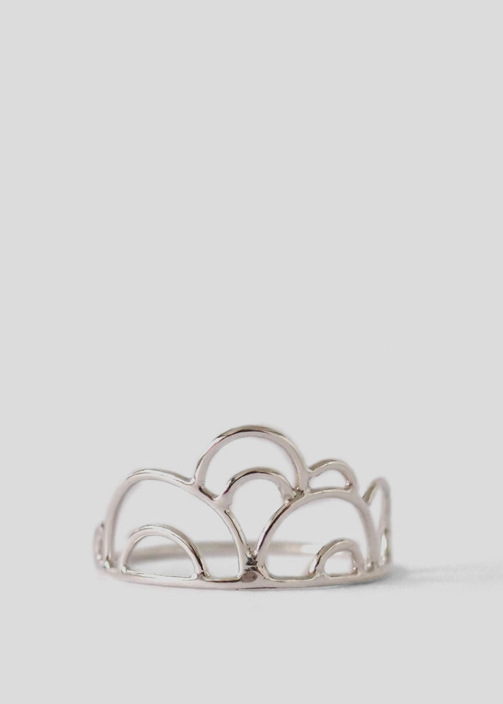 Smooth Cloud Stack Ring Sterling Silver