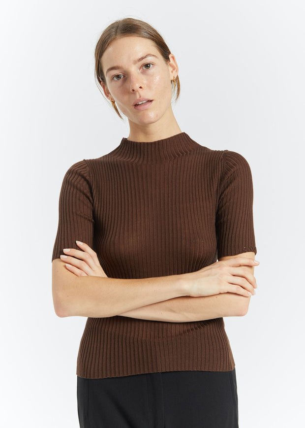 Agata Knit Top Cocoa
