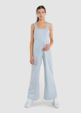 Stripe Sailor Jumpsuit Blue/White