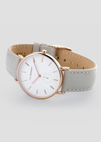 The Classic Rose Gold / White Face /Grey