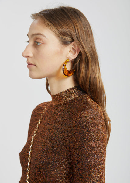 Paige Earrings Tortoise