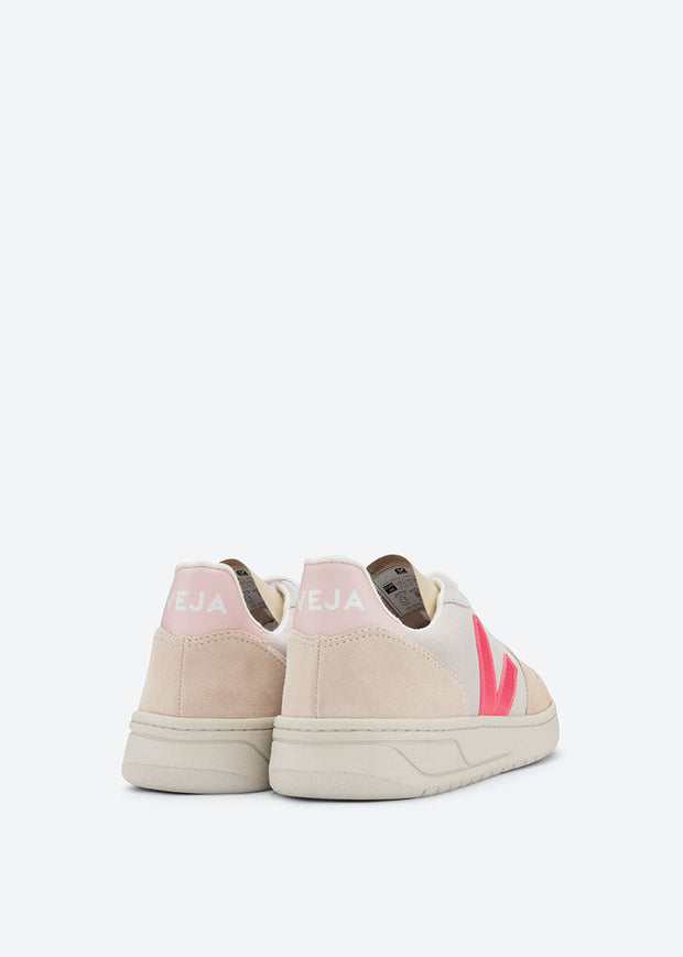 V10 Shoes Suede Multico Natural Rose Fluo