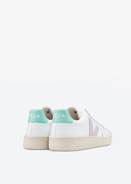 V12 Shoes Leather Extra White Parme Turquoise