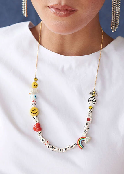 Say Anything Necklace Kit Rainbow Fantasy
