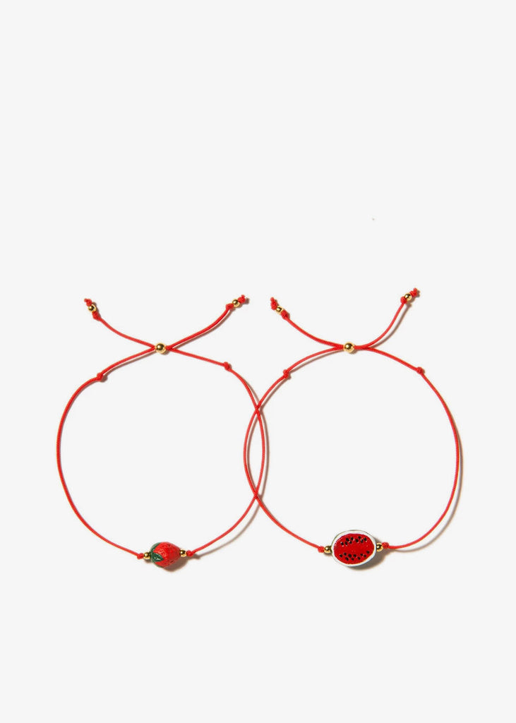 Strawberry Watermelon Bracelet Set Red