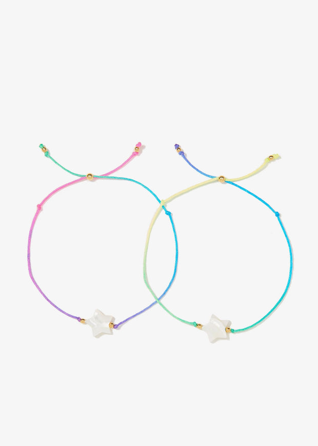 Twin Stars Bracelet Set Rainbow