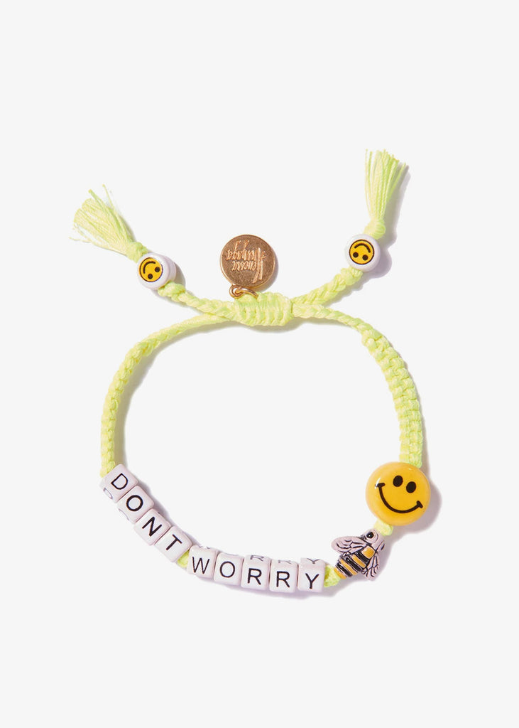 Dont Worry Bee Happy Bracelet Neon Yellow