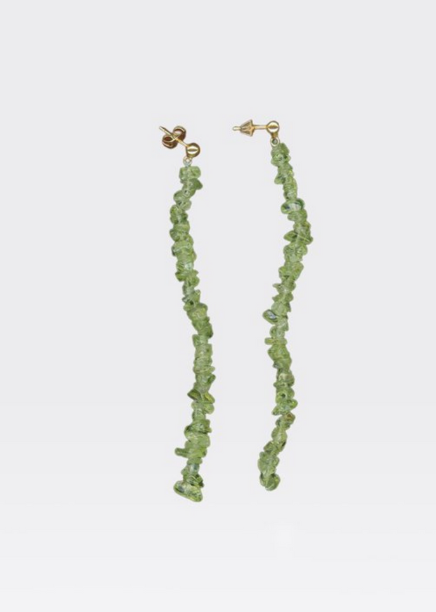 Latonia Stone Earrings Lime Green