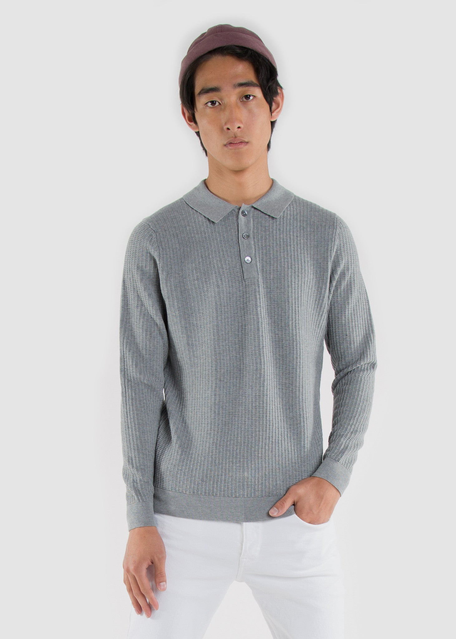 Walt Polo Tee Grey