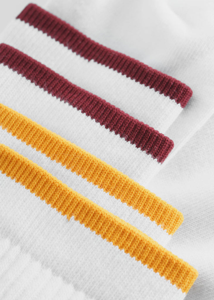 Gail 2-Pack Socks Bright White Stripe