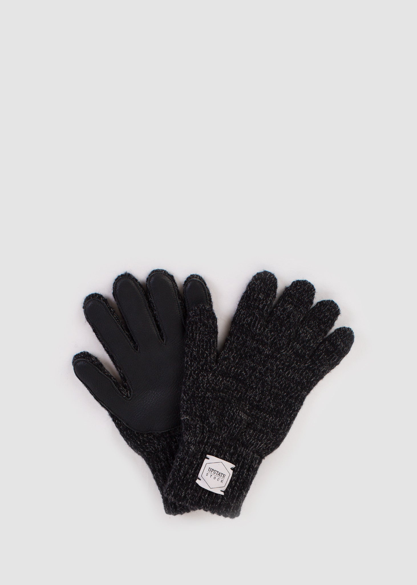 Wool Glove with Deer Black Melange