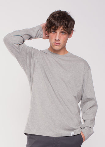 X BY O LS Tee Grey Heather