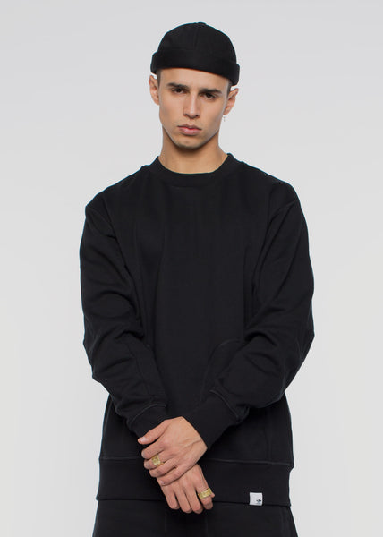 X By O Crew Jumper Black