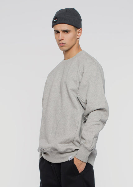 X By O Crew Jumper Medium Grey Heather