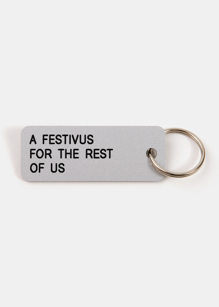 A Festivus For The Rest Of Us Key Tag Silver/Black