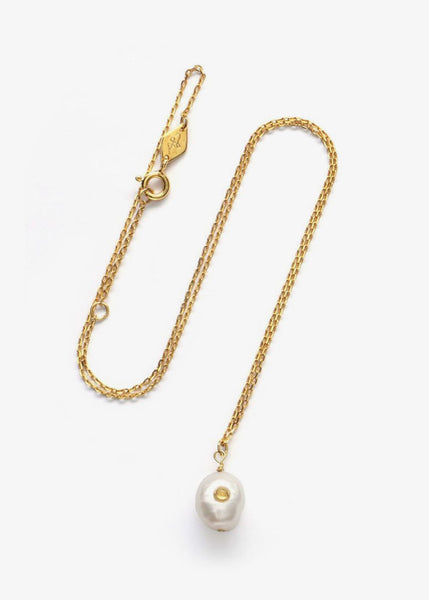 Baroque Pearl Necklace Citrine
