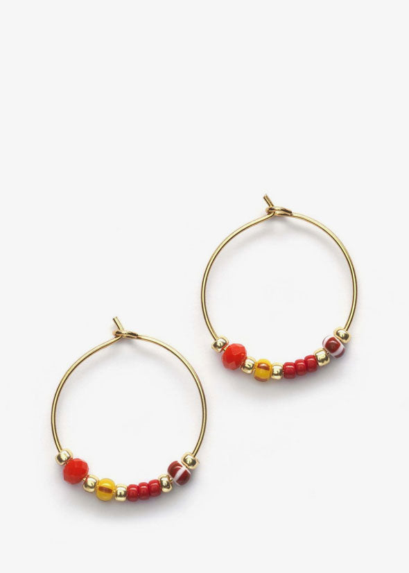 Bazaar Hoops Cranberry