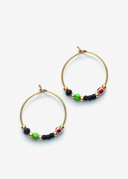 Bazaar Hoop Earrings India Ink