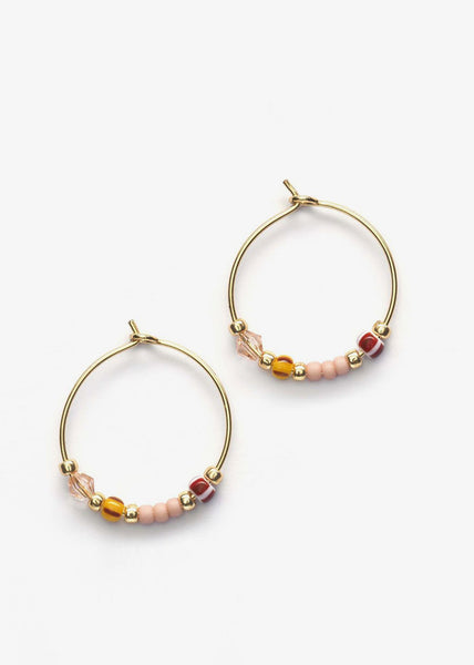 Bazaar Hoops Powder Pink