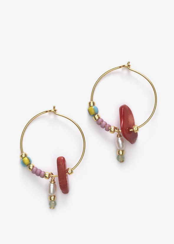 Hanalei Hoop Earrings Mulberry