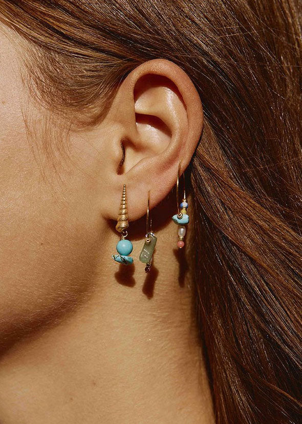 Hanalei Hoop Earrings Sunflower