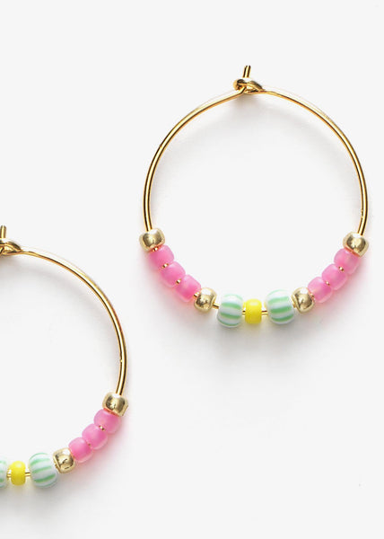 Peppy Hoops Geranium Pink