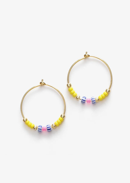Peppy Hoops Lemon Drop