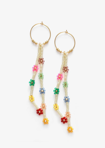Petals Hoop Earrings Cornhusk
