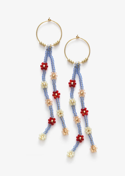 Petals Hoop Earrings Forget-Me-Not