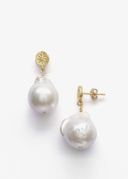 Stars & Pearls Earrings Gold