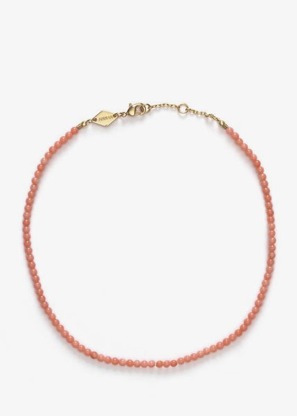 Wave Anklet Seashell Pink