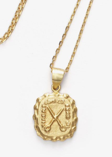 We Part To Meet Again Pendant Gold
