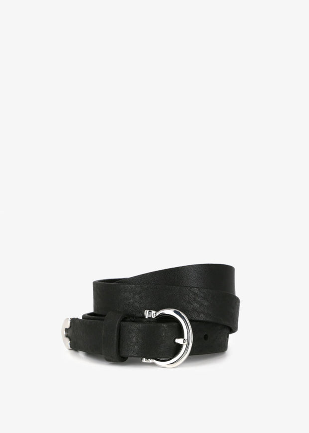 Avenue Belt Silver Black