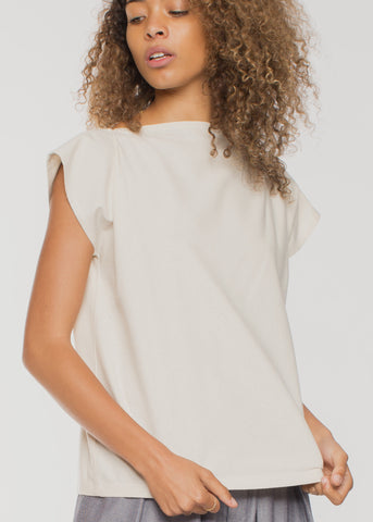 Shankar Raw Silk Tee Off White