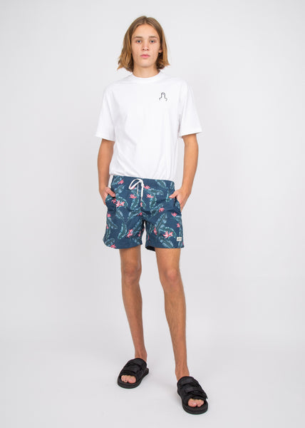 Swim Trunks Navy Birds of Paradise
