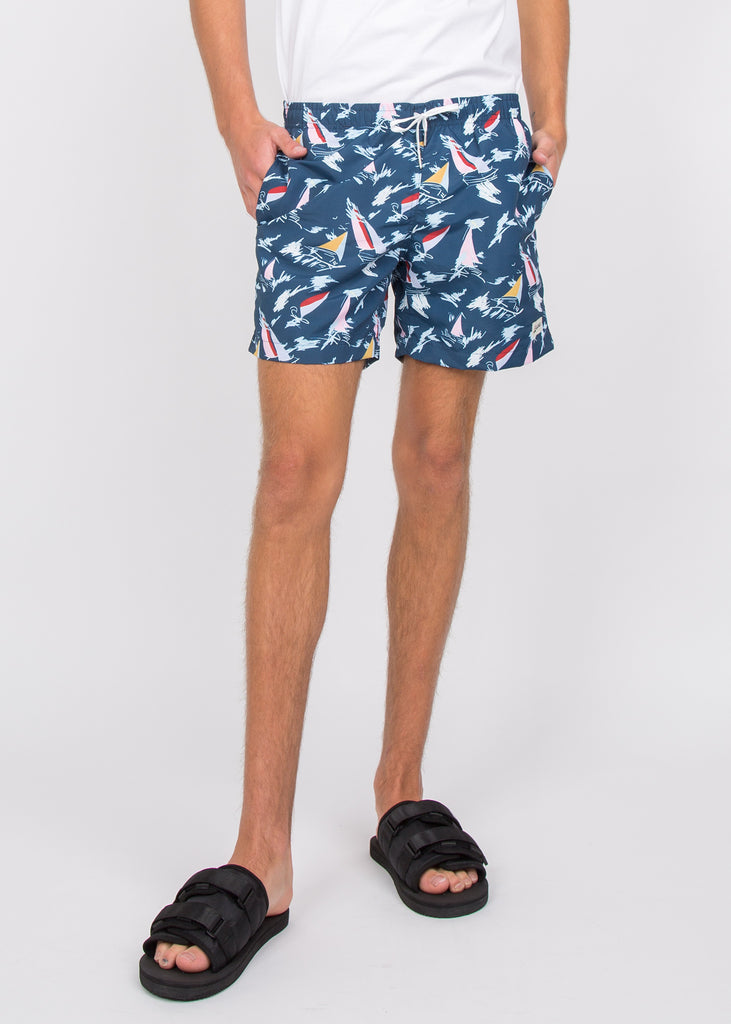 Swim Trunks Navy Sail
