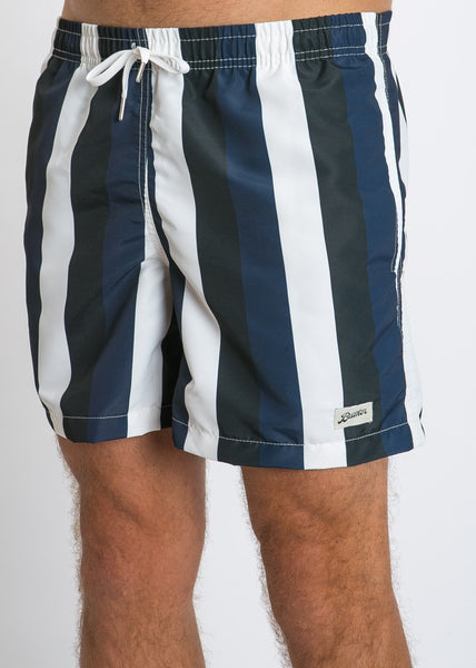 Swim Trunk Blue Black Stripe